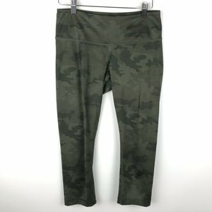 Lululemon Savasana Green Camo Wunder Under Crop